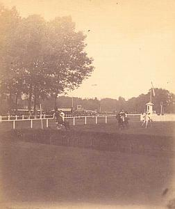 Horse Race Racing Scene old Vedastus Photo 1889