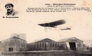 France? Pilote Belge Olieslagers sur Monoplan Bleriot Aviation Ancienne Carte Postale CPA vers 1911