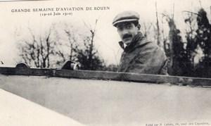France Rouen Semaine d'Aviation Emile Dubonnet Ancienne Carte Postale CPA vers 1910