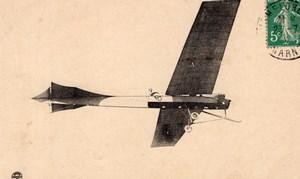 France Aviation Camp de Chalons Wachter Antoinette Monoplane Old Postcard 1911