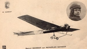 France Aviation Marcel Hanriot on Hanriot Monoplane Old Postcard 1910