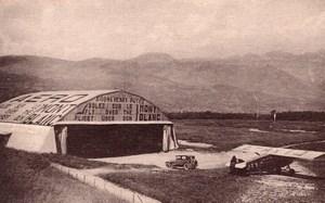 Saint-Gervais-les-Bains Le Fayet Aerodrome du Mont Blanc Old Postcard 1930