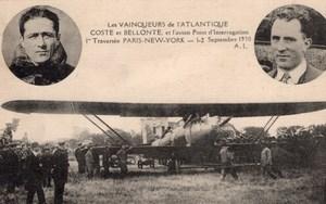 France Aviation Costes Bellonte Breguet 19 Point d'interrogation Postcard 1930
