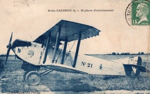 France Aviation Military Biplane Caudron C.59 Thionville Old Postcard 1922