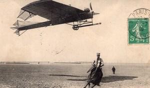 France Camp de Chalons Aviation Antoinette Monoplane Demanest Old Postcard 1909