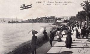 France Cannes Croisette Grande Semaine d'Aviation Old Postcard 1910