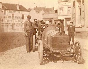 Vivinus Race Car, Belgium, lot of 9 old Photos 1908'