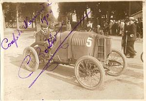 Boillot Lion-Peugeot Normandie Racing signed Photo 1909