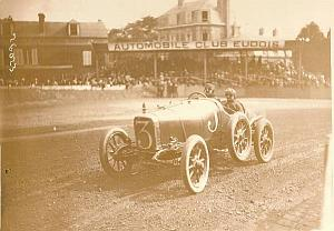 Rigal on Sunbeam Car Race, Eu Racing old Photo 1912