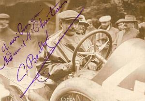 Boillot Lion-Peugeot Car Racing Eu, Signed Photo 1912