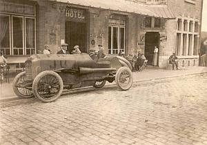 Christiaens Excelsior Car Racing Belgium old Photo 1912
