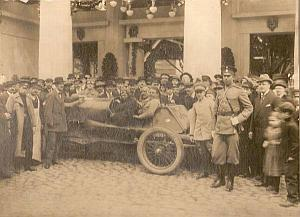 Brussels-St.Petersburg Winner Car Racing old Photo 1913