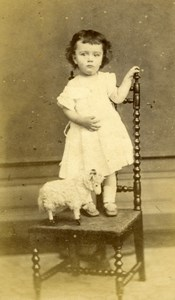 France Blois Boy Toddler & Toy Ram Ouzillian old Maignan CDV 1860