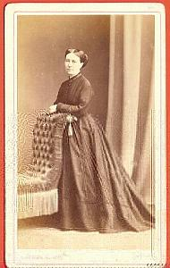 Fashion, Dress Woman, France, old Blaise CDV Photo 1860
