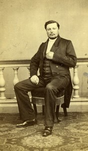 France Nantes French Fashion Elegant Man Seated old Bazelais CDV Photo 1860