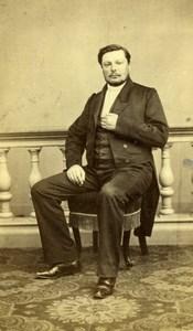 France Nantes French Fashion Elegant Man Seated old Bazelais CDV Photo 1860