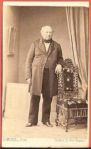 Fashion elegant old man France Monvel CDV Photo 1860