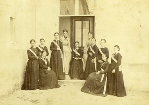 France Tours Girls Boarding School Building old Blaise Cabinet Card Photo 1870