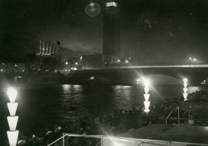 Paris World Fair by night, old Knecht Photo 1937