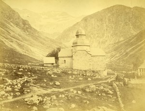 Ibeas Chapel, general view, Switzerland, old Photo 1867
