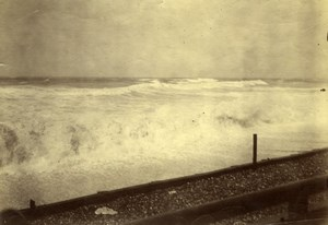 Beach, small waves Sea, old anonymous Photo 1900