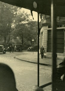 France Paris Street Scene Automobiles old Sylvain Knecht Photo 1940