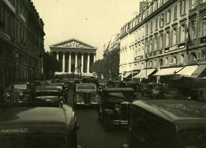 France Paris La Madeleine Street Scene Automobiles old Sylvain Knecht Photo 1940