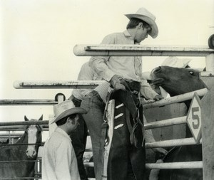 USA Texas Gary Little Cowboy Rodeo Dominique Darbois Photo 1960'