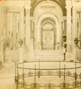 Vatican Gallery, Rome, Italy old Stereoview Photo 1870'
