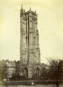 France Tour Saint Jacques Tower old Mansuy Photo 1868