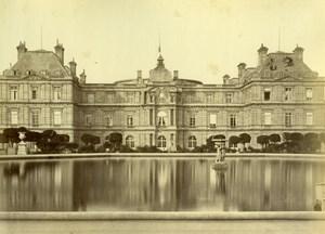 France Paris Palais du Luxembourg Palace old Mansuy Photo 1868