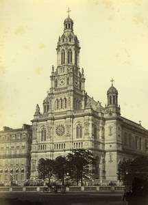 France Paris Église de la Sainte-Trinité Church Old Photo Mansuy 1868