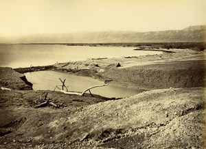 Dead Sea, Panorama, Palestine, old Bonfils Photo 1870