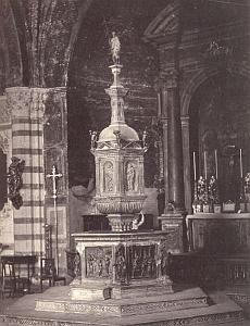 Interno del Battistero, Siena, old Sommer Photo 1875'