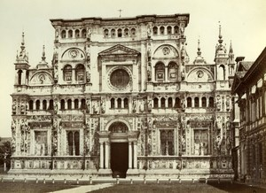 Certosa di Pavia, Italy, old Sommer studio Photo 1875'