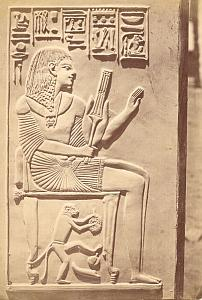 Amenophis stele, Egypt, old Albumen Photo 1880'