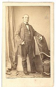 Man Fashion Empire France old Numa Blanc CDV Photo 1860