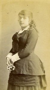 Woman Fashion Empire France old Berthier CDV Photo 1870