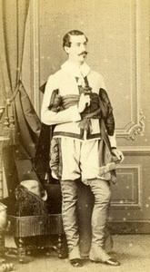 France Man Fashion Costume Second Empire old Gustave CDV Photo 1860'