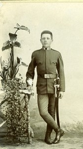 Hungary Young Soldier in Uniform Military old Gustav Aberle CDV Photo 1900'