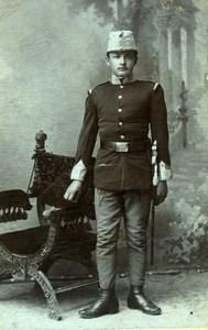 Herzegovina Soldier in Uniform old Tomlinovic CDV Photo 1900'