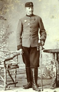 Czechoslovakia Soldier in Uniform Military old Michalec CDV Photo 1900'