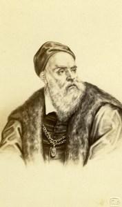 Titian Renaissance old Jacotin Albumen CDV Photo 1870