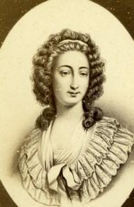 Aristocrat Marie-Maurille de Sombreuil Villelume Charles Jacotin CDV Photo 1870