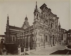 Certosa di Pavia Facade Italy old Brogi Photo 1880