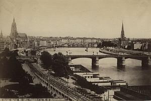 Germany Frankfurt on Mainz old Hertel Photo 1890'