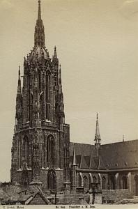 Germany Frankfurt Dom cathedral old Hertel Photo 1890