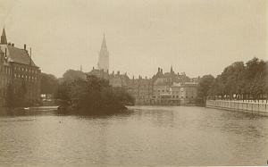 The Hague Lake or Canal old Albumen Photo 1890