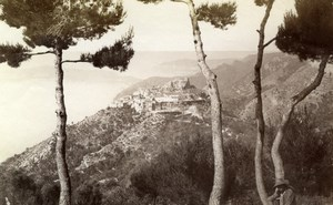 Eze General view France old Gilletta Photo 1880'