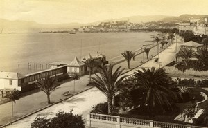 Cannes La Croizette France old Gilletta Photo 1880'